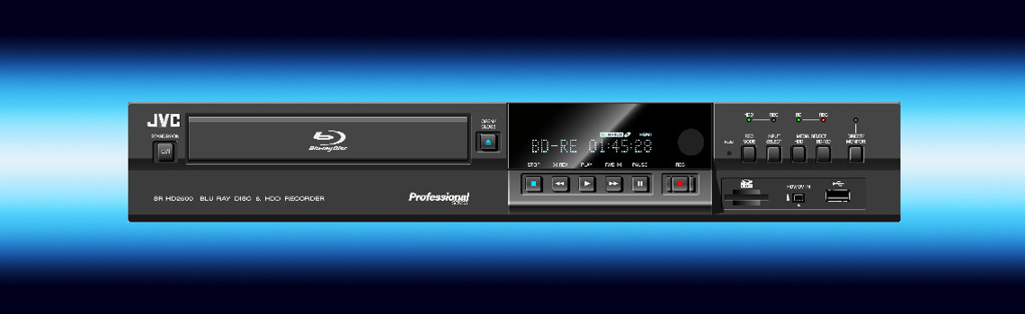 SR-HD2500 Blue Ray and HDD Recorder